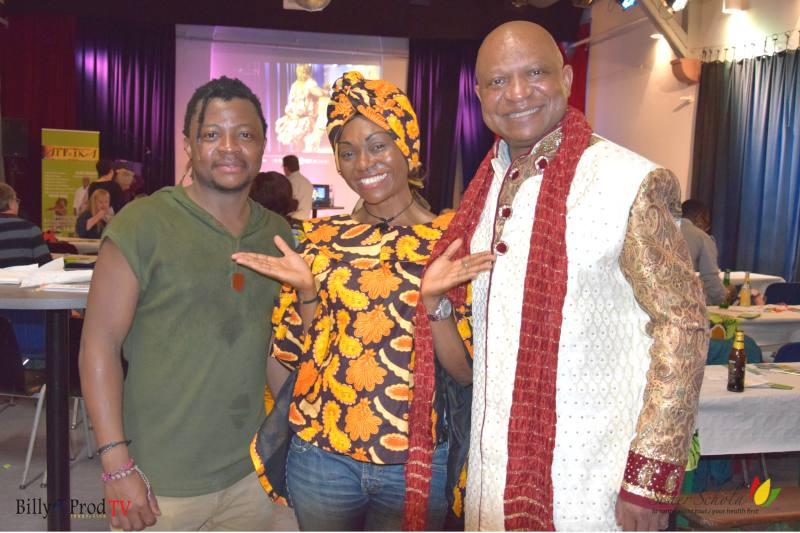 Sister Schola mit den beiden Künstlern