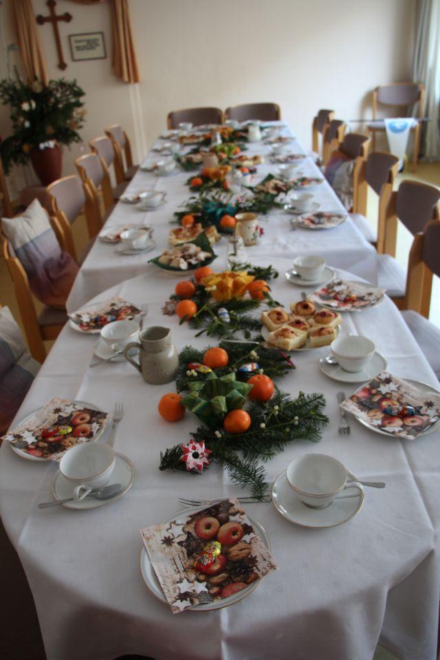 Festlich gedeckt zum Weihnachtskonvent